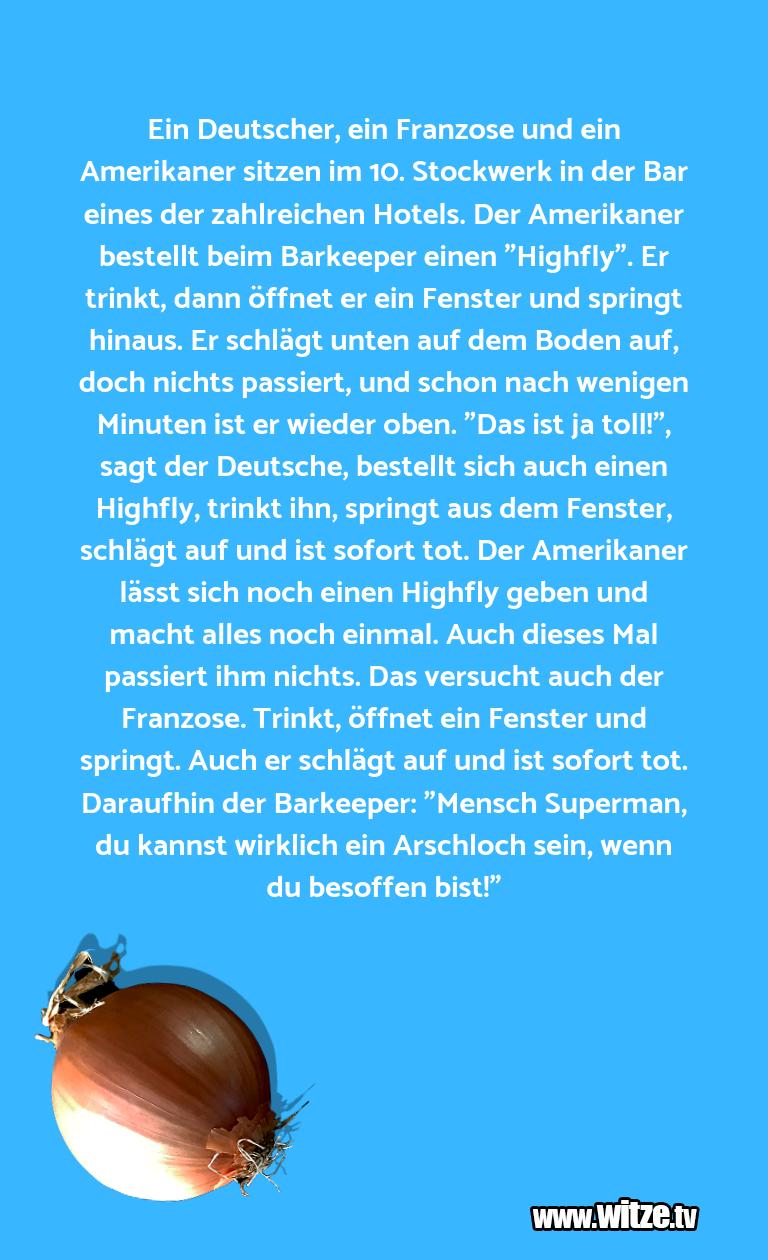 Leidenschaftlicher Humor... Ein Deutscher, ein Franzose und ein Amerikaner sit…