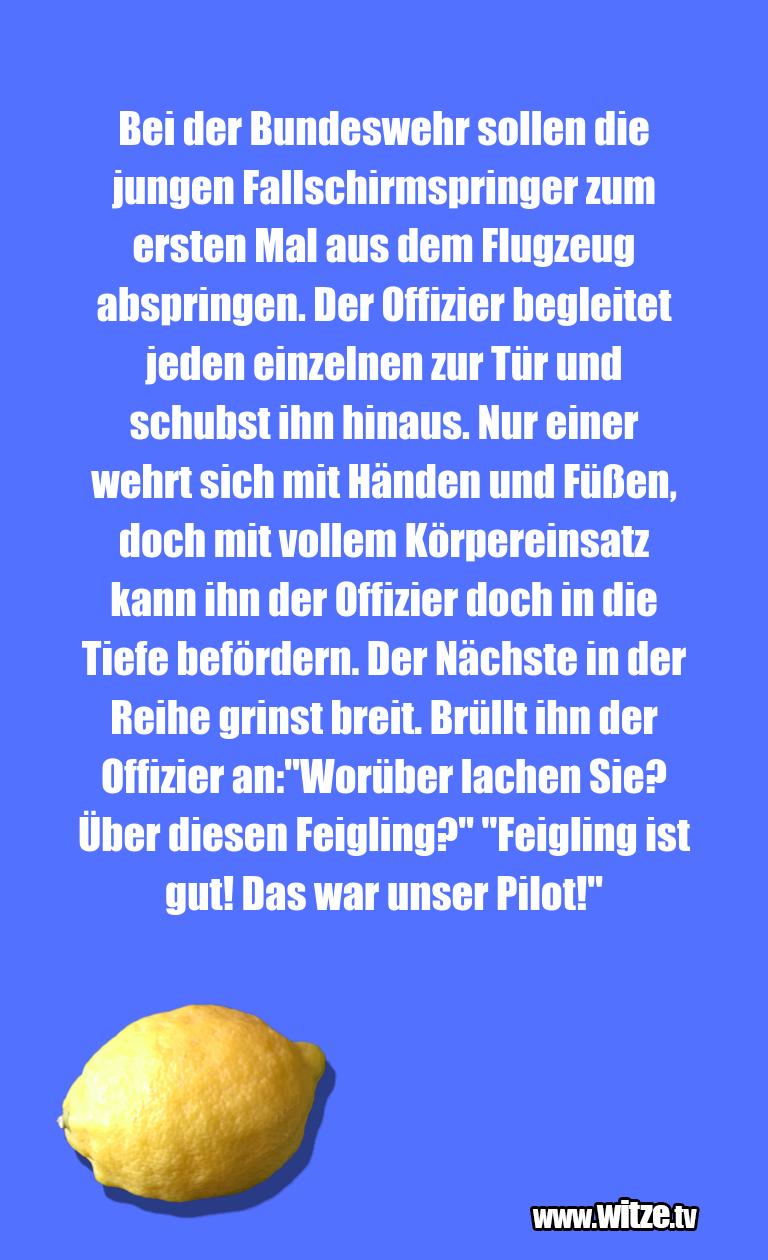 Erfindergeist oder doch nur Scharbernack...Bei der Bundeswehr sollen die jungen Fallschirmspr…