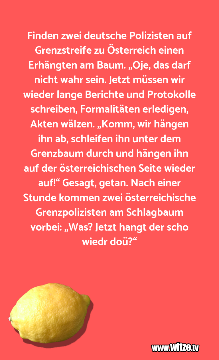 Krönung der Witze… Finden zwei deutsche Polizisten auf Grenzstreife z…