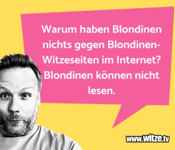 Warum haben Blondinen…