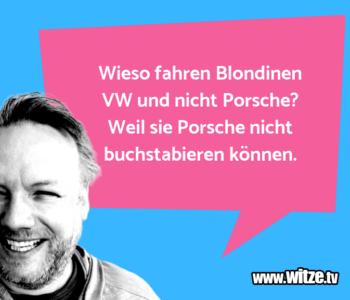 Wieso fahren Blondinen…