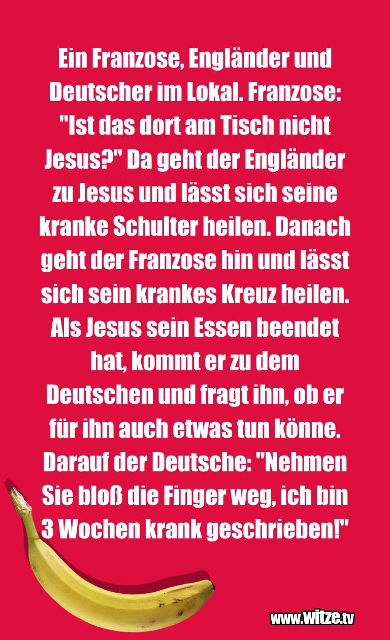 Kracher vom Schöpfer… Ein Franzose, Engländer und Deutscher im Lokal. Fr…