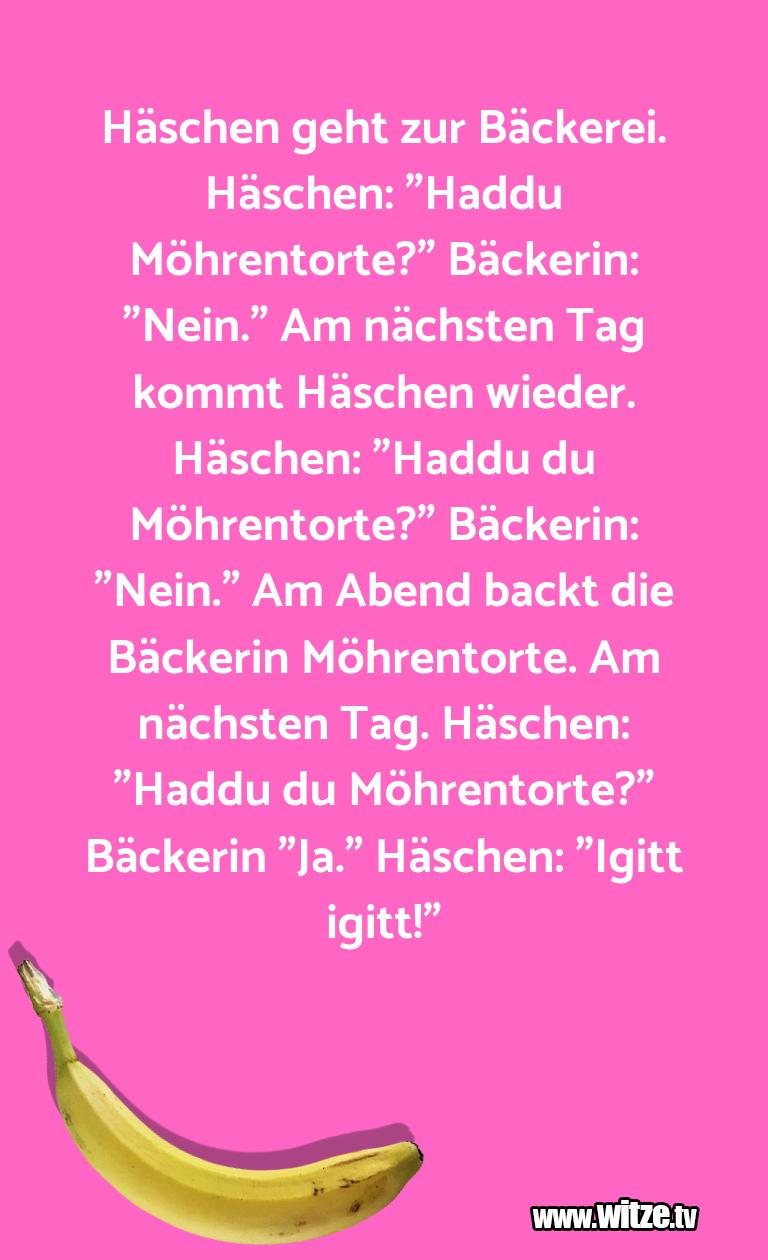 """Witz über… Häschen geht zur Bäckerei. Häschen: """"Haddu Möhrent…"""