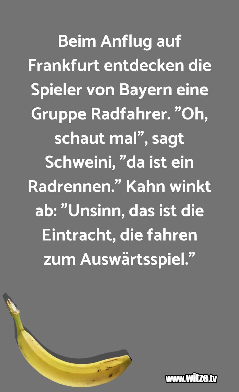 Hammer Joke... Beim Anflug auf Frankfurt entdecken die Spieler vo…