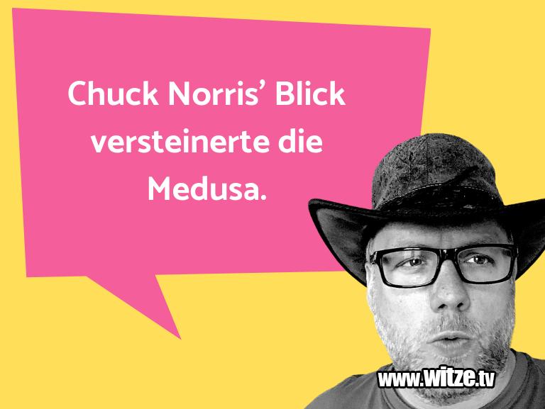 Nur Unsinn… Chuck Norris' Blick versteinerte die Medusa.…