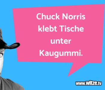 Chuck Norris klebt…