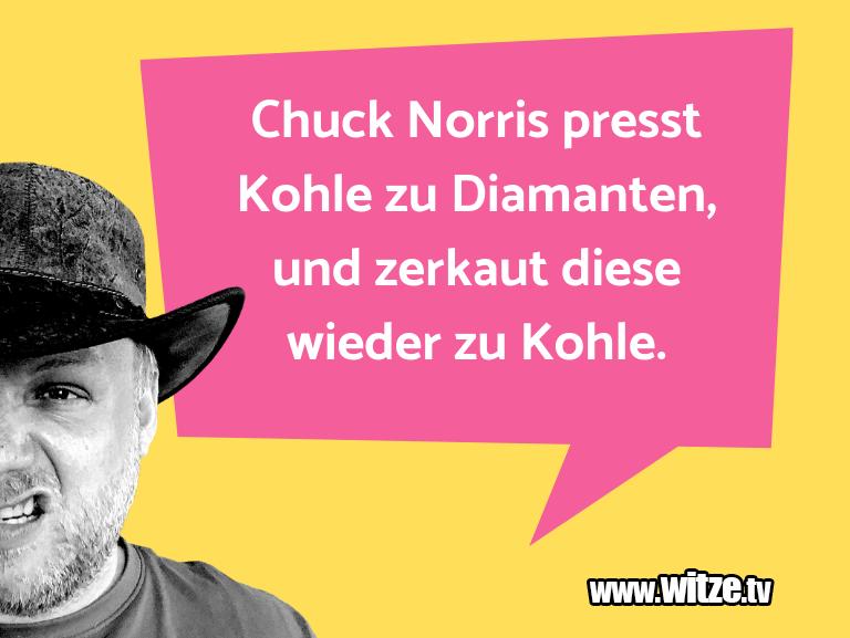 Ein Wortwitz über… Chuck Norris presst Kohle zu Diamanten, und zerkau…