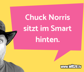 Chuck Norris sitzt…