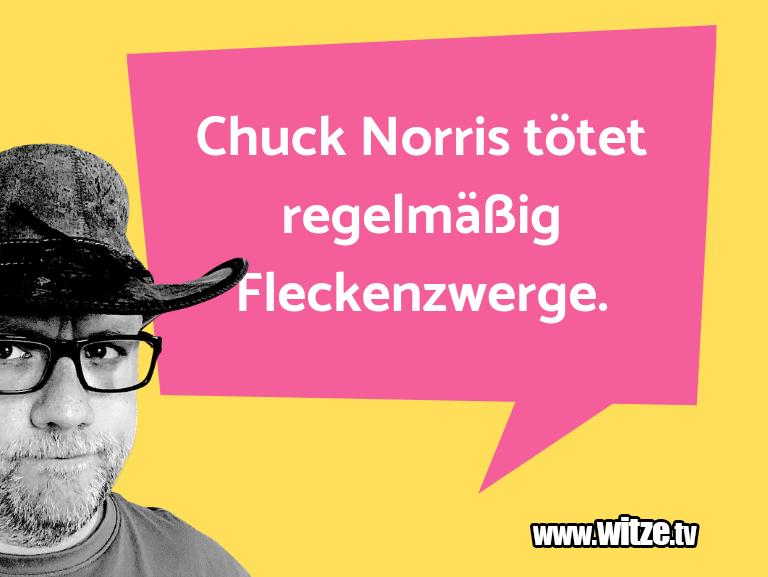 Nur Unsinn… Chuck Norris tötet regelmäßig Fleckenzwerge.…