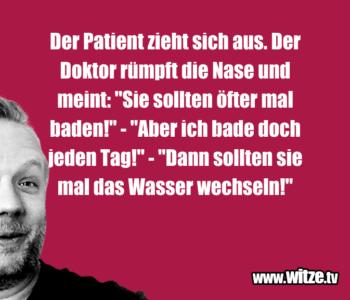 Der Patient zieht…