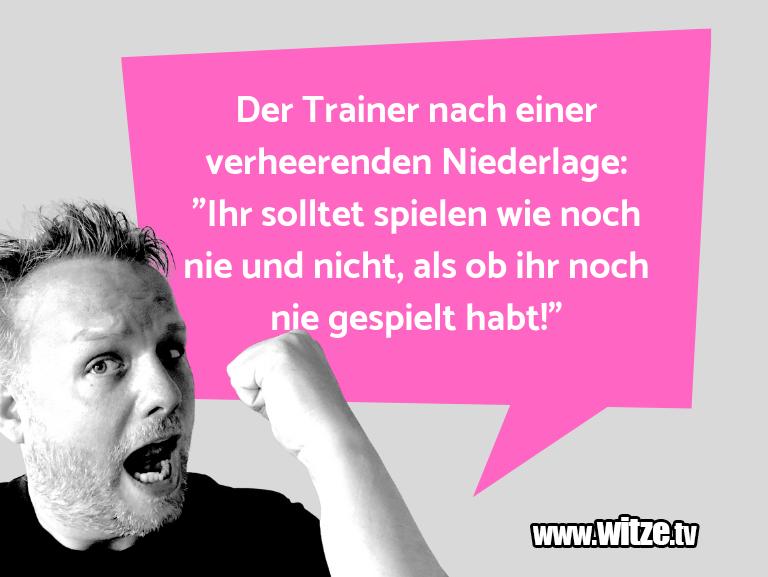 """Hammer Joke... Der Trainer nach einer verheerenden Niederlage: """"I…"""