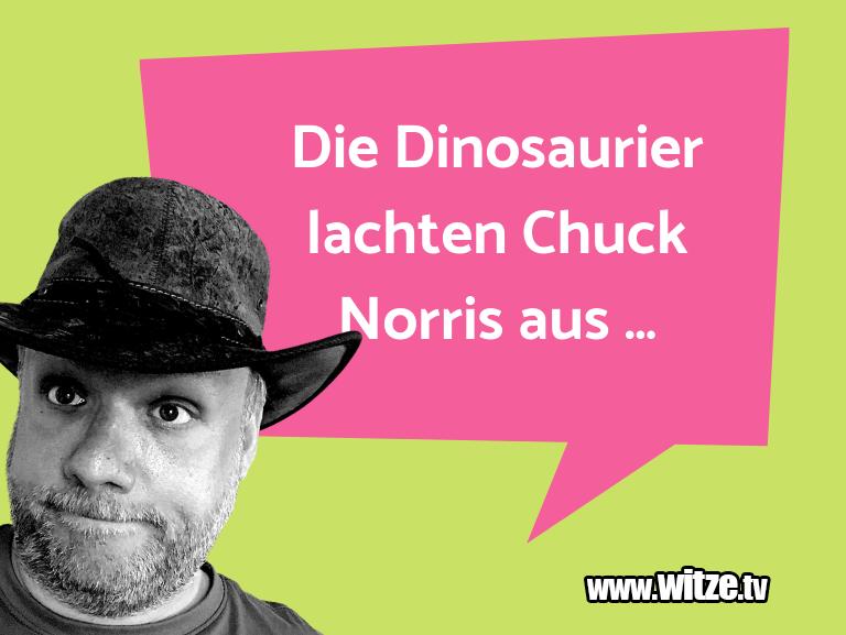 Ein Wortwitz über… Die Dinosaurier lachten Chuck Norris aus ...…