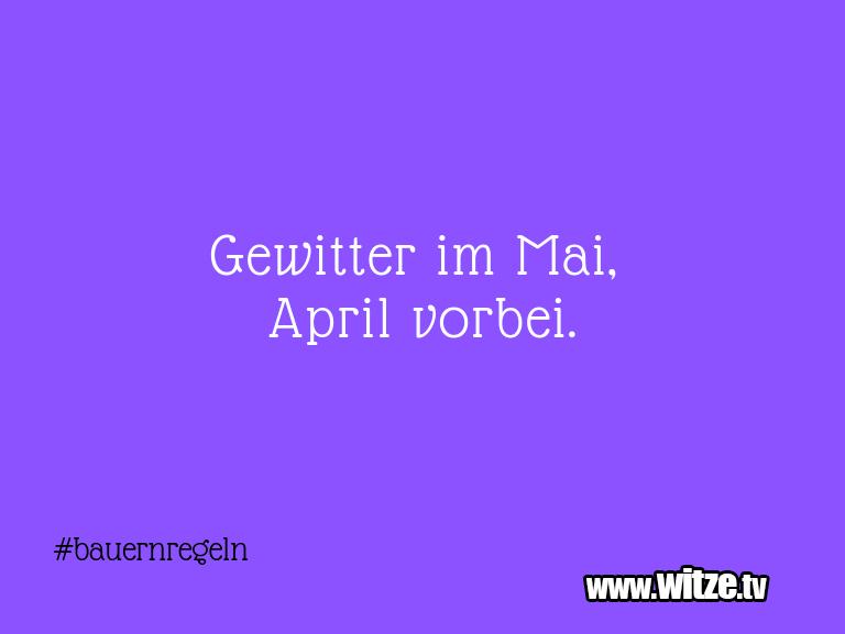 Was ein Jux... Gewitter im Mai, April vorbei.…