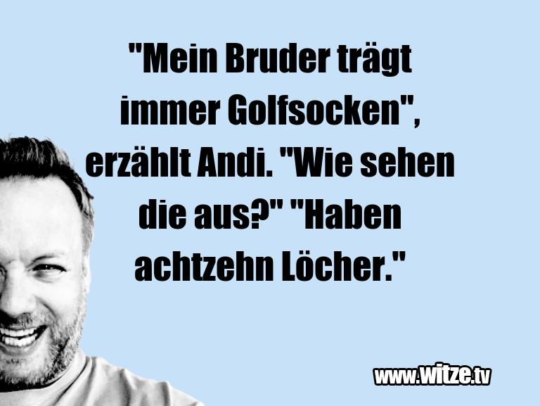 """Leidenschaftlicher Humor... """"Mein Bruder trägt immer Golfsocken"""", erzählt Andi…"""