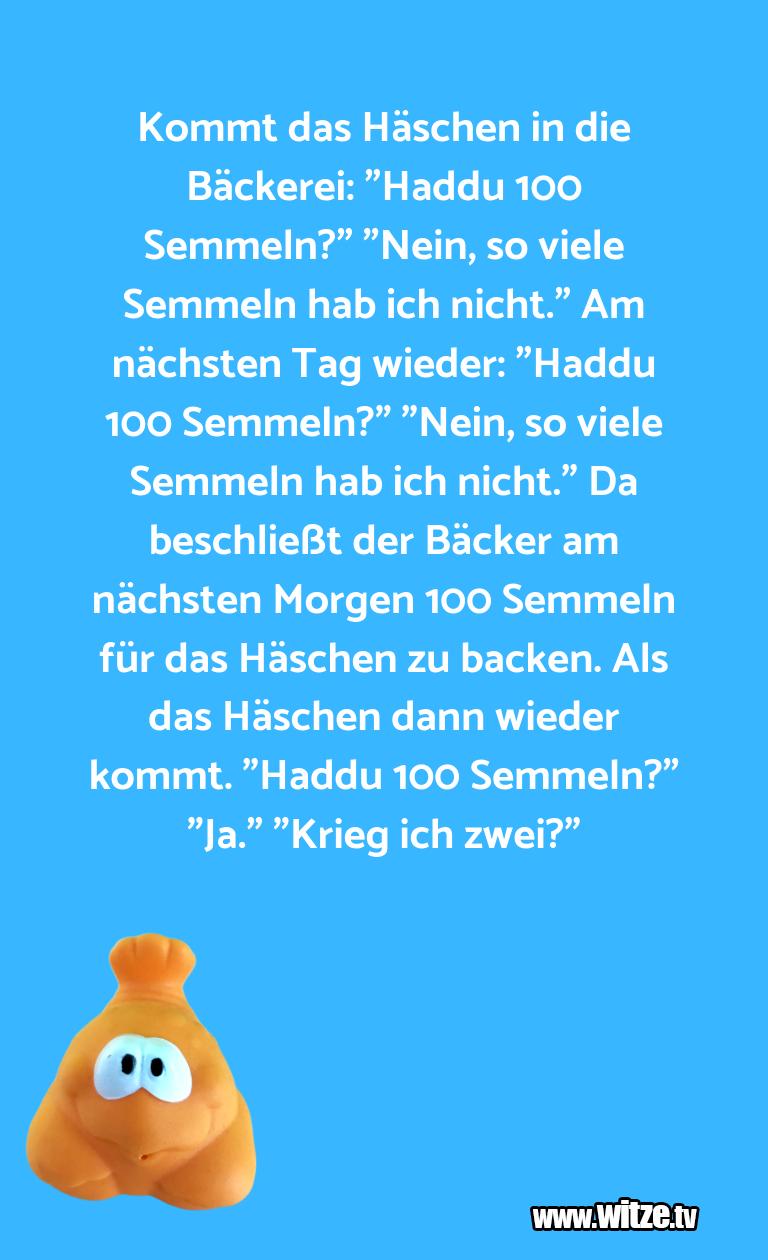 """ClownWitze!...KommtdasHäschenindieBäckerei:""""HadduSemm…"""