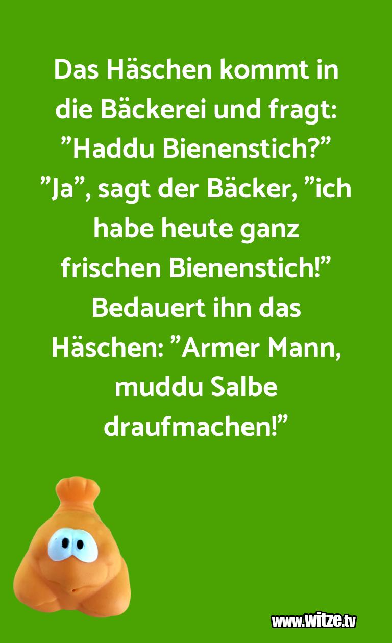 """Ein Wortwitz über… Das Häschen kommt in die Bäckerei und fragt: """"Hadd…"""