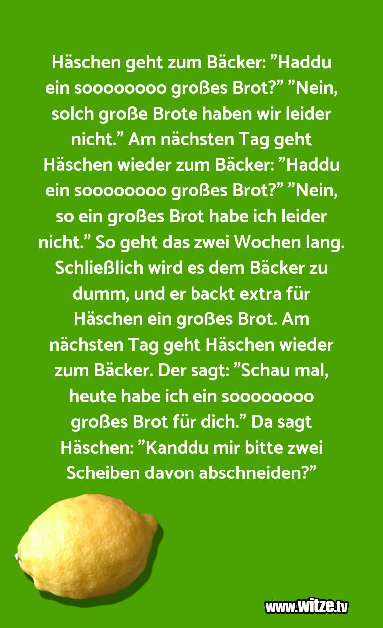 """Lustige Anspielung… Häschen geht zum Bäcker: """"Haddu ein soooooooo groß…"""