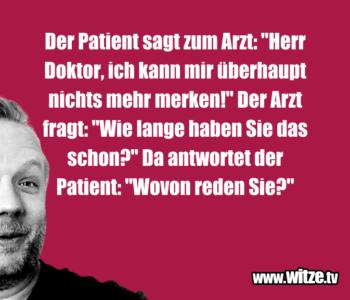 Der Patient sagt…