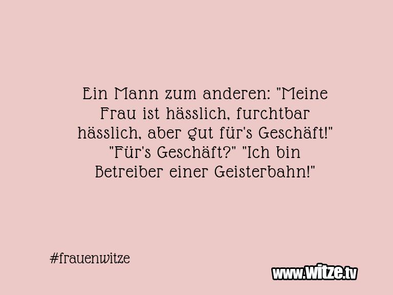 Frau witze mann Witze mann