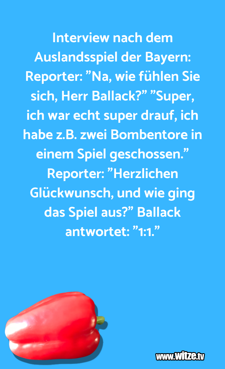 Lustige Anspielung… Interview nach dem Auslandsspiel der Bayern: Repor…