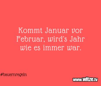 Kommt Januar vor…