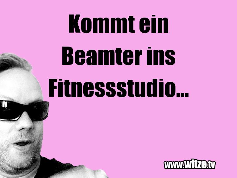 Ein Wortwitz über… Kommt ein Beamter ins Fitnessstudio...…