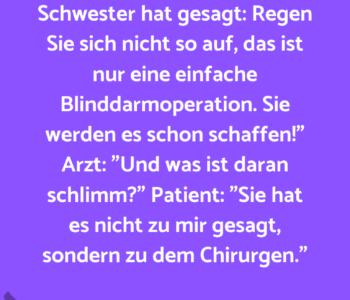 Arzt zum Patient…
