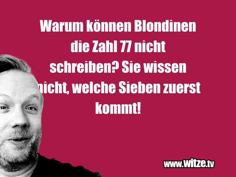 Warum können Blondinen…