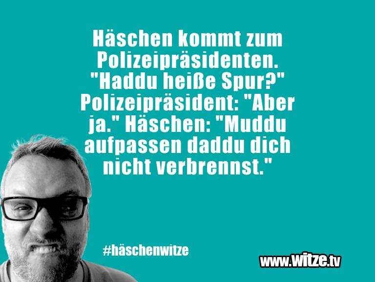 """Kracher vom Schöpfer… Häschen kommt zum Polizeipräsidenten. """"Haddu heiße…"""