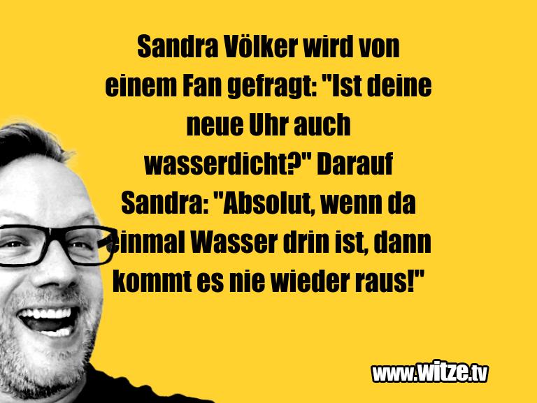 """Hammer Joke... Sandra Völker wird von einem Fan gefragt: """"Ist dei…"""
