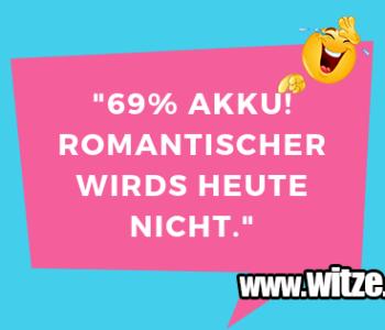 """69% Akku! Romantischer…"