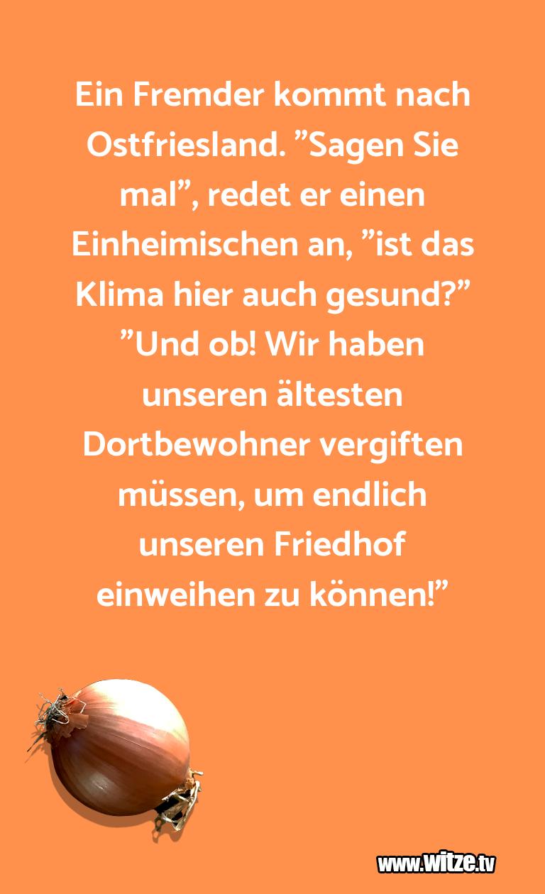 """Ein Wortwitz über… Ein Fremder kommt nach Ostfriesland. """"Sagen Sie ma…"""