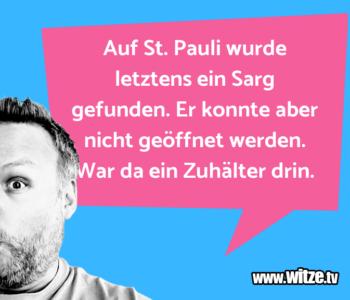 Auf St. Pauli wurde…