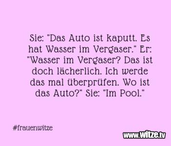 """Sie: """"Das Auto…"""