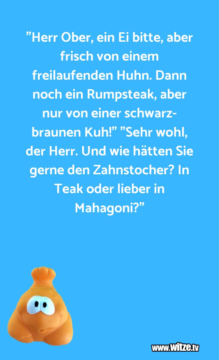 """ClownWitze!... """"HerrOber,einEibitte…"""