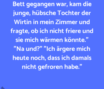 Kevin schwelgt in…