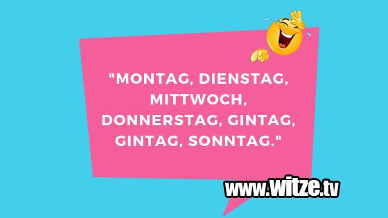 Montag Dienstag Mittwoch Lustige Witze Coole Spruche Witze Tv