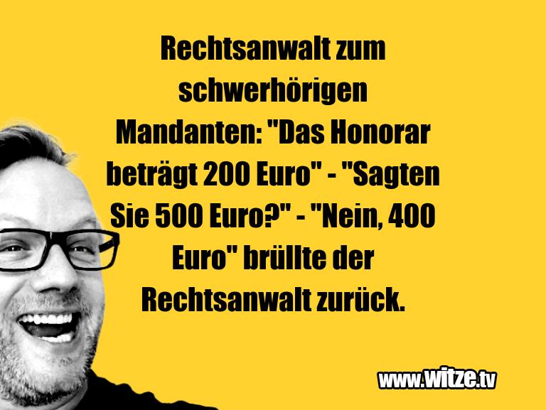 "Krönung der Witze… Rechtsanwalt zum schwerhörigen Mandanten: ""Das Hon…"