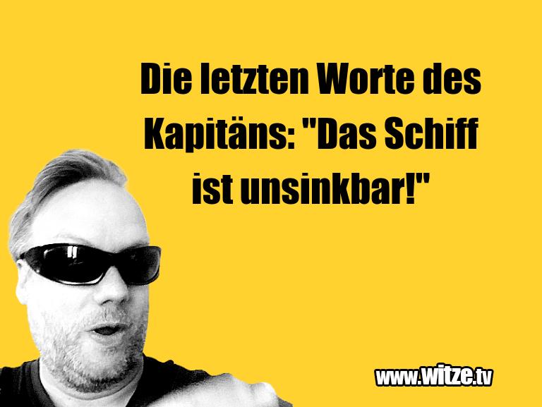 """Kracher vom Schöpfer… Die letzten Worte des Kapitäns: """"Das Schiff ist un…"""