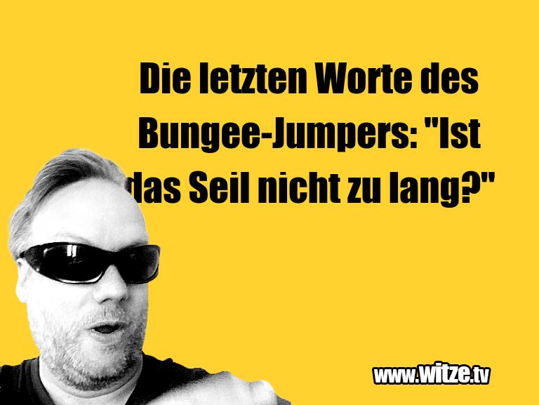"""MuttisWitze…DieletztenWortedesBungee Jumpers:""""IstdasSei…"""