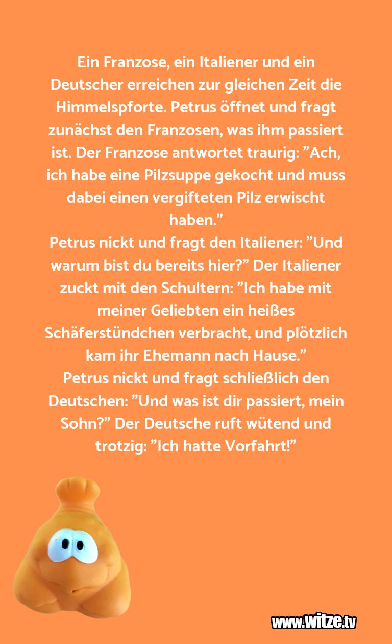 Hammer Gag… Ein Franzose, ein Italiener und ein Deutscher e…