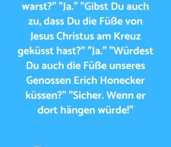 Die Stasi verhört…
