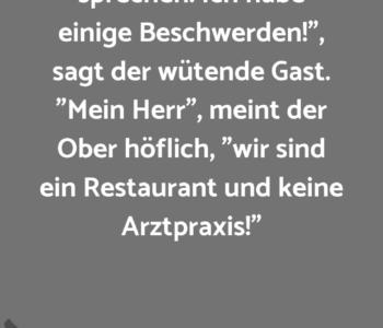 """""""Herr Ober, ich…"""