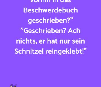 """Herr Ober, was…"