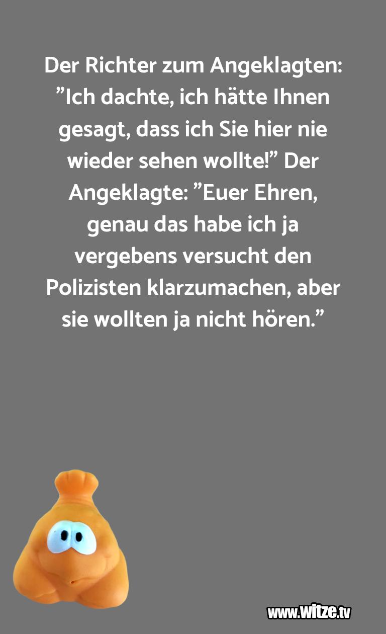 """Witz über… Der Richter zum Angeklagten: """"Ich dachte, ich hätt…"""