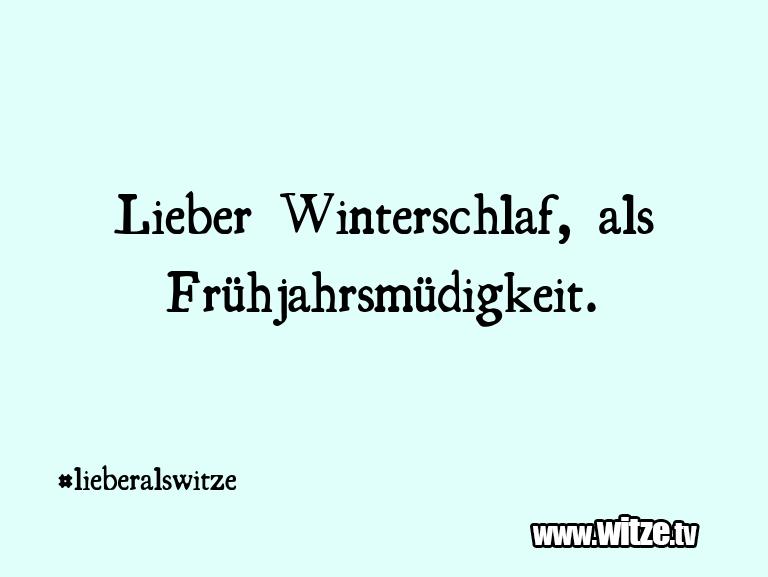Ein Wortwitz über… Lieber Winterschlaf, als Frühjahrsmüdigkeit.…
