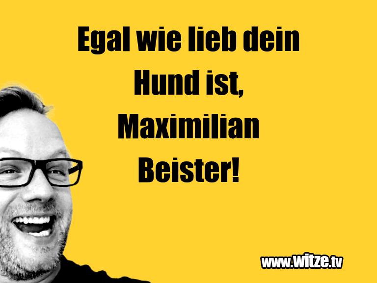 Ein Wortwitz über… Egal wie lieb dein Hund ist, Maximilian Beister!…