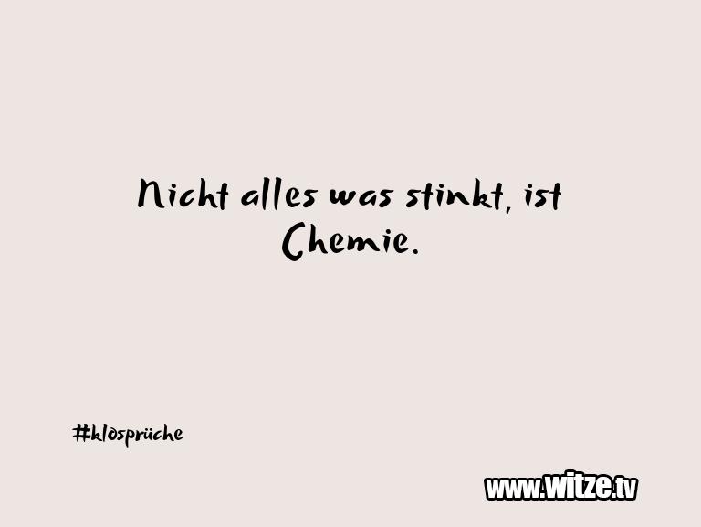 Was ein Jux... Nicht alles was stinkt, ist Chemie.…