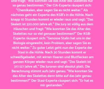 Stasi, CIA und…
