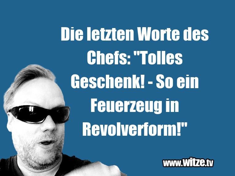 """KrachervomSchöpfer…DieletztenWortedesChefs:""""TollesGeschenk! S…"""